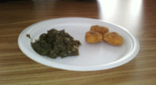 Chicken Nuggets and Spinach